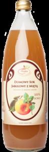 Domowy sok jabłkowy z miętą