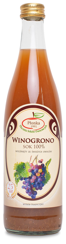 Sok z winogron białych